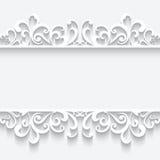 Papierowa rama z swirly rabatowym ornamentem ilustracja wektor