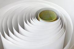 Papierowa rolka w printshop Obrazy Stock