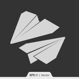 Papierowa samolotu modela ikona dla sieci i wiszącej ozdoby Obrazy Royalty Free