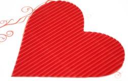 papierowa serce czerwień Obrazy Royalty Free