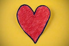papierowa serce czerwień Zdjęcia Royalty Free