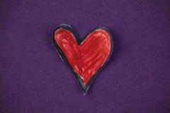 papierowa serce czerwień Zdjęcia Stock