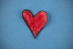 papierowa serce czerwień Obraz Stock