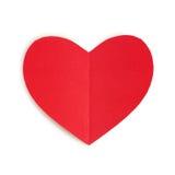 papierowa serce czerwień Fotografia Royalty Free