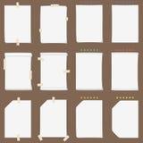 Papierowa szkotowa kolekcja z stałymi cieniami (zmienia kolor jeżeli ty potrzebujesz je) Zdjęcie Stock