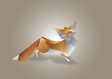 Papierowa sztuka Fox Obrazy Stock
