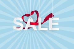 Papierowa sztuka sprzedaż na nieba, zakupy i biznes promoci pojęciu, Zdjęcia Royalty Free