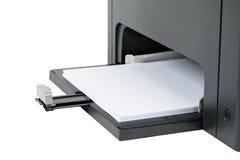 Papierowa taca przy bazą drukarka laserowa Zdjęcia Stock