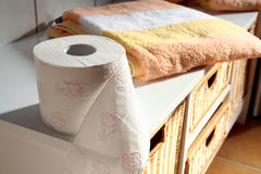 papierowa toaleta fotografia stock