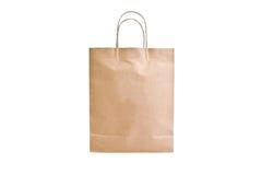 Papierowa torba odizolowywa Fotografia Stock