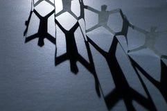 papierowe łańcuszkowi ludzi Zdjęcie Royalty Free