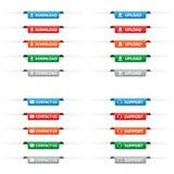 Papierowe etykietek etykietki Obraz Stock