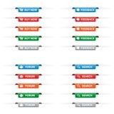 Papierowe etykietek etykietki Zdjęcie Royalty Free