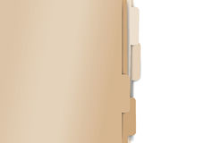 Papierowe falcówek kartoteki Zdjęcie Stock