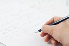 papierowe formuł fizyka Obraz Stock