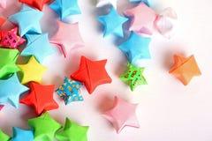 papierowe gwiazdy Fotografia Royalty Free