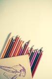 papierowe ołówki zdjęcia stock