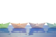 Papierowe łodzie Zdjęcie Royalty Free