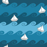 Papierowe łodzie Obrazy Stock