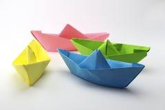 Papierowe łodzie Fotografia Stock