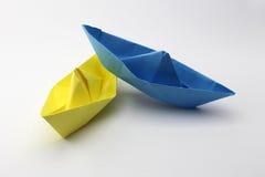 Papierowe łodzie Zdjęcia Stock