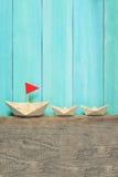 Papierowe Origami łodzie Obraz Royalty Free