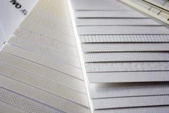 papierowe próbki Zdjęcie Stock