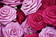 papierowe róże Obraz Stock
