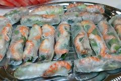 Papierowe Rice wietnamskie Świeże Rolki Zdjęcia Stock
