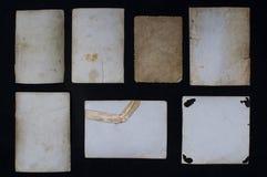 Papierowe rocznik notatki Obrazy Stock