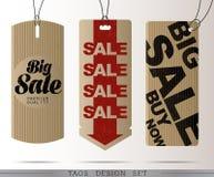PAPIEROWE sprzedaży etykietki Zdjęcie Stock