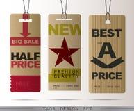 PAPIEROWE sprzedaży etykietki Obrazy Stock