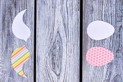 Papierowe wycinanki dla Wielkanocnych wakacji Zdjęcia Stock