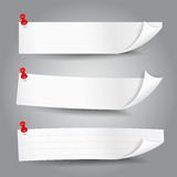 Papierowego etykietka sztandaru wektorowa ilustracja 001 Zdjęcia Royalty Free