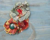 Papierowego kwiatu Corsage obraz stock