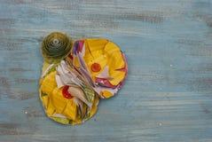 Papierowego kwiatu Corsage zdjęcie stock