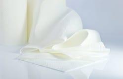 papierowego ręcznika biel zdjęcia stock