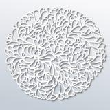 Papierowego round wzór Zdjęcie Royalty Free