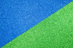 Papierowej błyskotliwości błękitna i zielona tekstura dla tła Obraz Stock