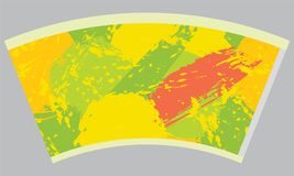 Papierowej filiżanki szablon dla gorącego napoju Zdjęcie Royalty Free