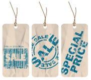 papierowej sprzedaży ustalone etykietki Zdjęcie Stock
