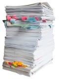 papierowej sterty odpady Obrazy Royalty Free