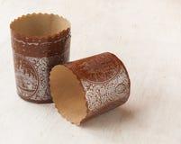 Papierowi bakeware wielkanocy torty (Produkujący produkty) Zdjęcia Royalty Free