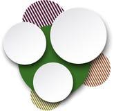 Papierowi biali round mowa bąble. Fotografia Stock