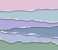 Papierowi dividers ustawiający, realistyczne wektor strony Obrazy Royalty Free