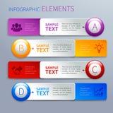 Papierowi infographics opci sztandary Zdjęcia Royalty Free
