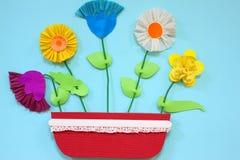 Papierowi kwiaty Zdjęcia Royalty Free