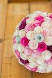 Papierowi kwiaty balowi Zdjęcia Stock