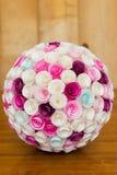 Papierowi kwiaty balowi Obrazy Stock
