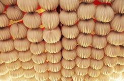 Papierowi lampiony, jarmark w Seville, Andalusia, Hiszpania Zdjęcie Stock